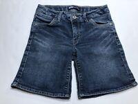 Levis Girls Mid Shorts Size 12 Regular Denim Blue Jean Stretch Bermuda Shorts
