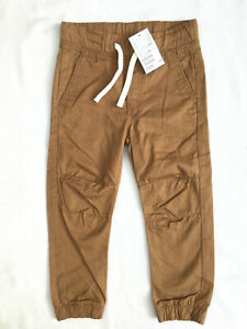 NEW ~ H&M ~ Boys Age 3-4 Years ~ Tan Cotton  Bottoms / Joggers / Trousers