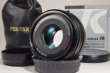 PENTAX SMC FA 43mm F1.9 Black Limited Lens in Boxed #a0575 MINT