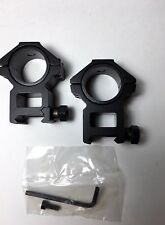 "30mm Heavy Duty Hex Shape Rifle Scope Rings W/1"" Inserts High Rise Weaver Style"