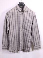 HB56 Lacoste Herren Hemd Shirt grau schwarz kariert Gr. M Button-Down regular