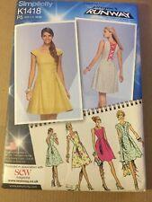 Simplicity K1418 Project Runway sewing pattern princess seam dress S 12-20 Uncut
