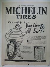 1917 Michelin Tire Co Milltown NJ Michelin man your change sir vintage ad