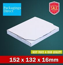 50x Mailing Box 152x132x16mm Rigid Flat Mailer Envelope Size - Large Letter