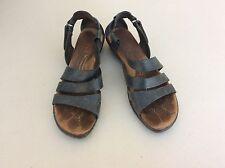 BORN Sandals Wedge Kates Gladiator Womens Size 40 Mid Blue Leather Us 9