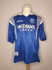 Rare Original 1996-1997 Glasgow Rangers Home Shirt Medium Men's VGC ADIDAS