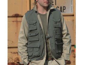 Hunting Vest Fishing Vest Outdoor Vest Moleskin Olive Size S Hunting Hiking
