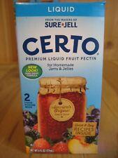 Sure Jell Certo Premium Liquid Fruit Pectin  1 BOX EXP  AUG 2021 DETOX
