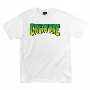 CREATURE - Logo  T-Shirt - Skateboard Tee - Large - White