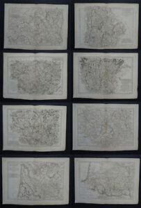 1790 BONNE  Atlas 8 x FRANCE REGIONAL DISTRICT maps