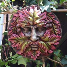 Green Man Round Face Wall Plaque Garden TM 36617