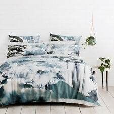 Sheridan Mossgrove Deepwater Queen Bed Size Doona Quilt Cover Set RRP359.95