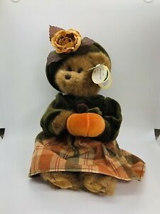 "Bearington Autumn Harvester bear 12"" Thanksgiving plush"