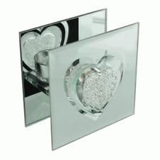 Glass Heart T-Light Holder