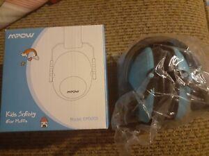 Mpow Kids Safety Ear Muffs, NRR 25dB SNR 29dB Noise Reduction EM5005 Light Blue