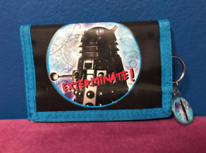 Rare Dr Who Dalek Tri Fold Wallet w/ Keychain - David Tennant - Doctor Who 2004