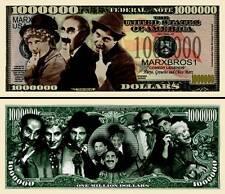 Marx Brothers Groucho Million Dollar Bill Funny Money Novelty Note + FREE SLEEVE
