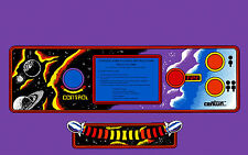 GYRUSS ARCADE CONTROL PANEL OVERLAY purple background