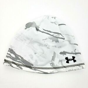 Under Armour Coldgear Reversible Hunting White Camo Beanie One Size 1359840 956