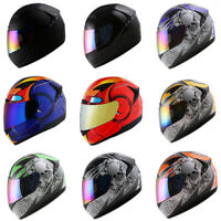 1STORM HG335 MOTORCYCLE BIKE FULL FACE HELMET BOOSTER SKULL IRON MAN BLUE RED