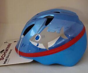 Schwinn Infant Baby Bicycle Bike Blue Helmet Classic Ages 0-3 Shark Design NWT