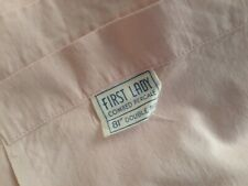 Vtg First Lady Pink Cotton Full Flat Sheet Or Fabric Lovely Color Tiny Slit Nice