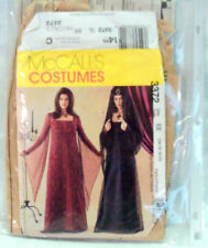 McCall's 3372 Sizes 14, 16, 18 & 20 GOTHIC WOMEN'S COSTUMES with HAT PATTERNS