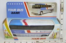 GREYHOUND NASHVILLE TOUR BUS TOY BANK STILL IN BOX