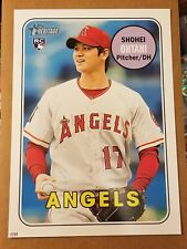 SHOHEI OHTANI 2018 Topps Heritage 10x14 rookie RC logo #17/99 his jersey only 1