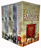 Conn Iggulden Emperor Series Collection 5 Books Set Blood iof Gods, Gods of War