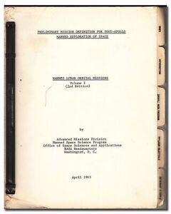 """1965 vintage NASA manual on """"lunar orbital missions"""" - RARE - 231"""