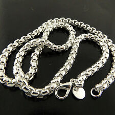 A458 GENUINE REAL 925 STERLING SILVER SF SOLID UNISEX LINK DESIGN NECKLACE CHAIN