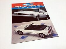 1988 Chevrolet Cavalier Information Card Brochure - French