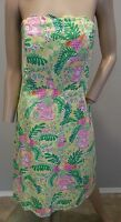 Lilly Pulitzer Pink Elephant Monkey Turtle Floral Pineapple Cotton Dress 8