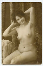 1910s Nude French RPPC Real Photo Postcard LOVELY LADY Pretty Beauty