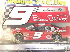 NASCAR BILL ELLIOTT #9 DODGE  RACING PREMIUM 1 SIDED 3'X5' FLAG BSI NIP