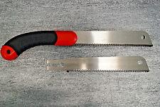 Hand Zugsäge 170mm + 2 Sägeblätter Holzsäge Holz Säge Sägen Kunststoff Plastik