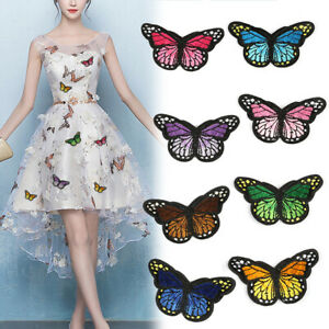 Butterfly Insect Motif Embroidered Patch Applique Customise Clothing Patches