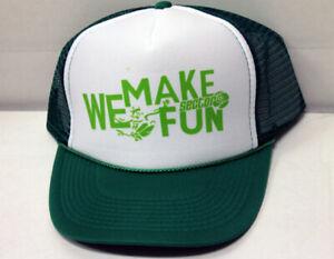 Sector 9 Longboards Mesh Trucker Hat We Make Fun LIME/GREEN