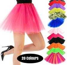 TUTU Dance Fancy Dress Costume Ladies Skirt Rave 1980s 80 Party Ballet Petticoat