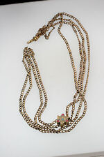 ANTIQUE VICTORIAN CREATED STONES PENDANT SLIDE FOB WATCH CHAIN NECKLACE SOB&CO.