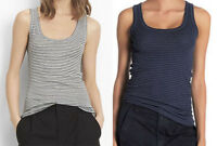 New Vince Striped Scoop Neck Tank Stripe Sleeveless Top Shirt XS S M L Blue Gray