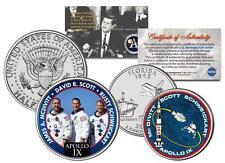 APOLLO 9 SPACE Colorized 2-Coin Set US Quarter & JFK Half Dollar NASA ASTRONAUTS