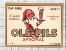BELGIUM Damberd,Olsene OLS PILS dwarf beer label C2035 017