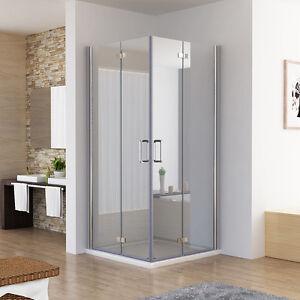 Duschkabine Eckeinstieg Dusche 180° Falttür Duschwand Duschabtrennung NANO ESG