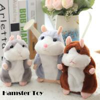 Parler mignon Hamster Pet en peluche jouet Sound Record Toddler Kid cadeau