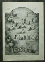 HO4) Kunst Druck 1885-1900 Parsifal Aufführung Bayreuth Szenen Schauspieler Bühn
