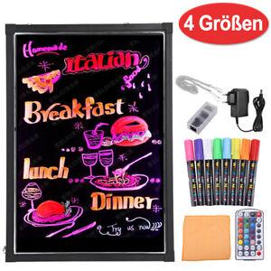 LED Schreibtafel Licht-Tafel Werbetafel Writing Board  Reklame-Tafel + 8 Stifte
