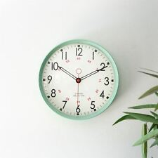 Metal Wall Clock Retro Large Round Home Office Bedroom Kitchen Work - Sea Green