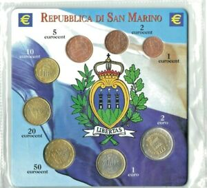 Blister monete Euro serie completa FDC San Marino